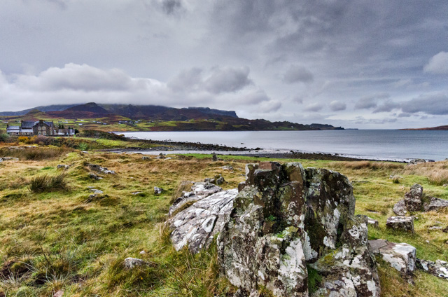 Looking across Staffin Bay